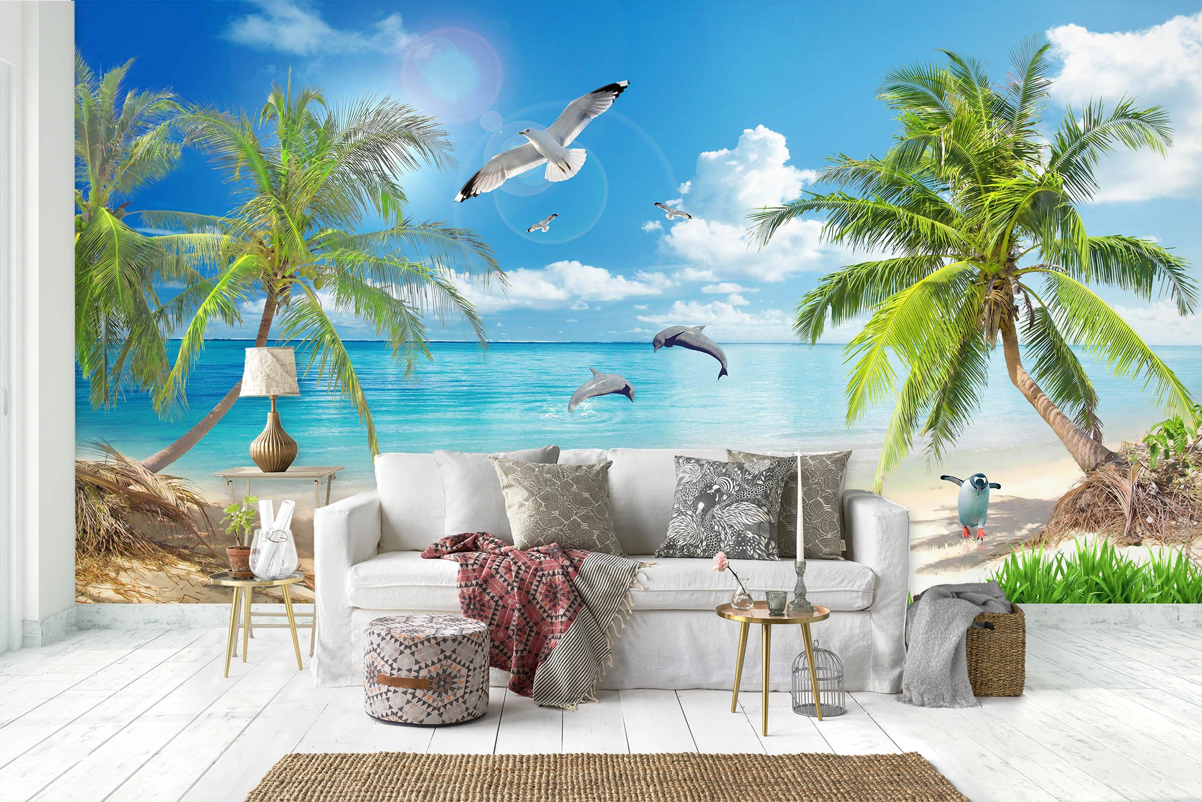 3D Coconut Palm Tree 1449 Wall Murals