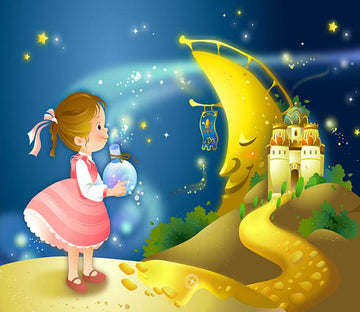 3D Girl To Sea Moon Castle 8 Wallpaper AJ Wallpaper 2