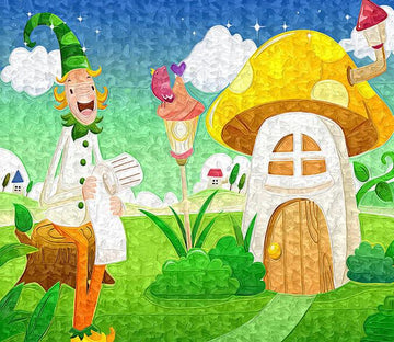 3D Mushroom House Boy 98 Wallpaper AJ Wallpaper