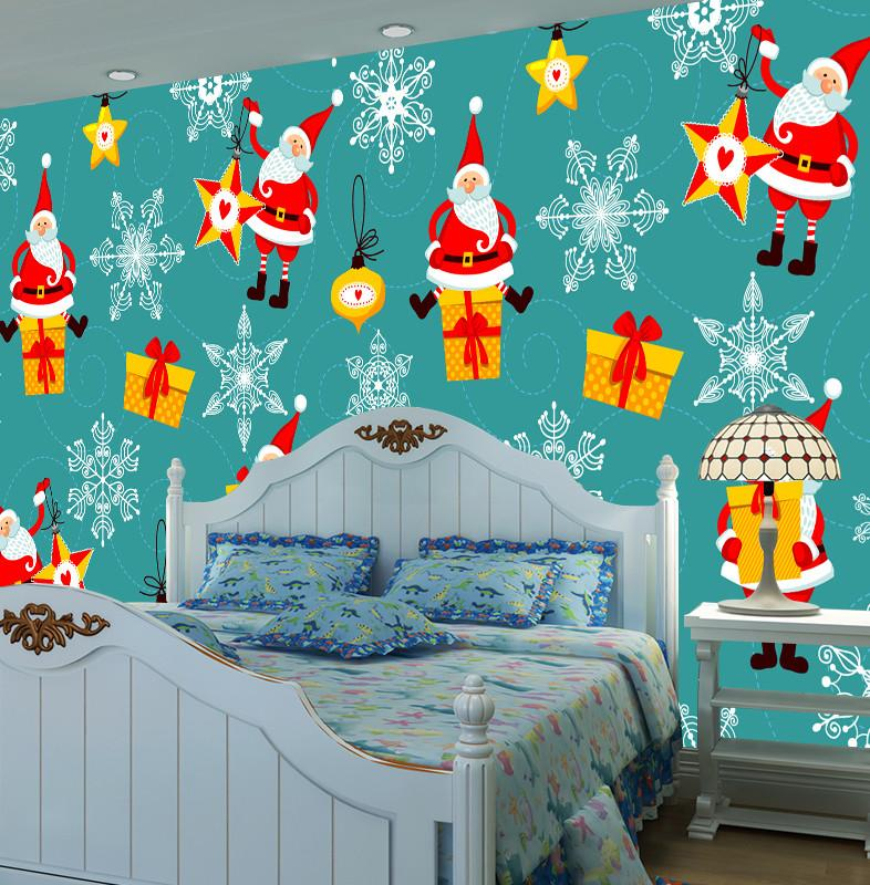 3D Father Christmas Gifts Box 2 Wallpaper AJ Wallpaper