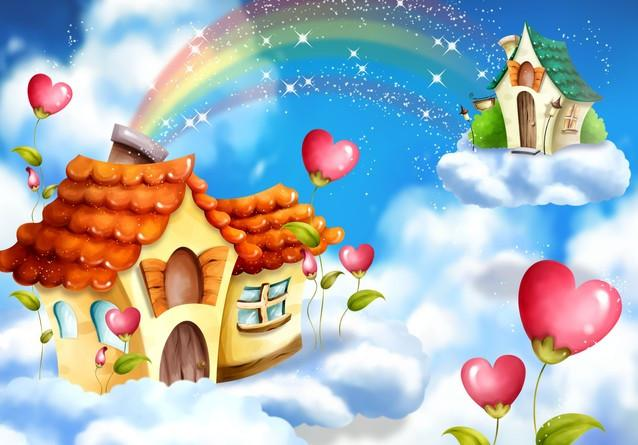 Rainbow Houses Wallpaper AJ Wallpaper