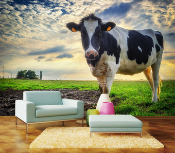 3D Meadow Cow 054 Wall Murals