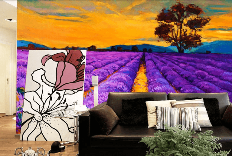 Lavender Fields Wallpaper AJ Wallpaper