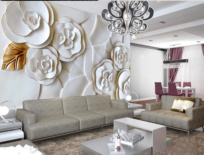 White 3D Flowers - AJ Walls - 3