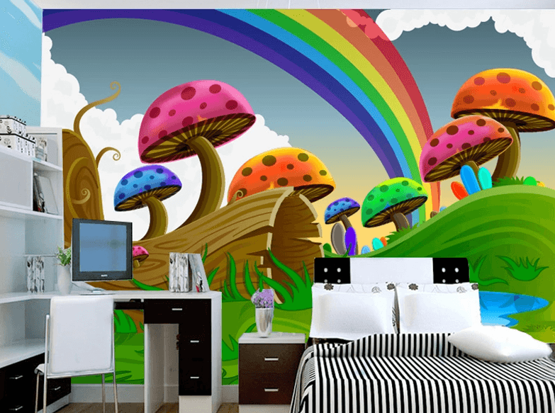 Color Mushrooms Wallpaper AJ Wallpaper