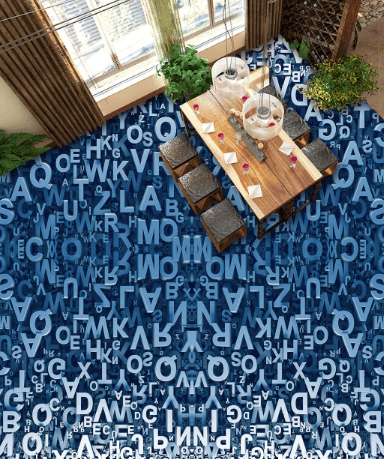 3D Letters Floor Mural Wallpaper AJ Wallpaper 2