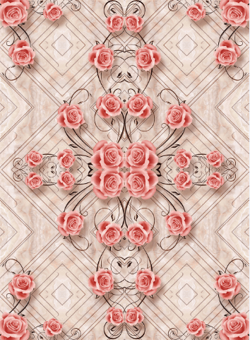 3D Rose Blossoms Floor Mural Wallpaper AJ Wallpaper 2