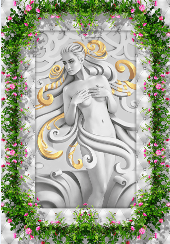 3D Beauty Statue Floor Mural - AJ Walls - 2