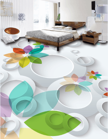3D Elegant Colorful Flowers Floor Mural Wallpaper AJ Wallpaper 2