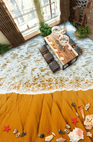 3D Amazing Beach Floor Mural Wallpaper AJ Wallpaper 2