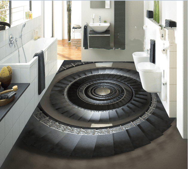 3D Spiral Stair Floor Mural Wallpaper AJ Wallpaper 2