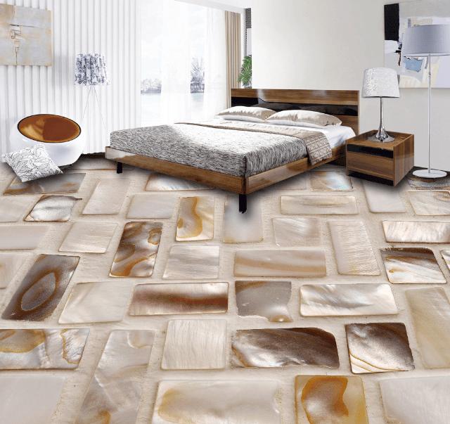 3D Shell Pattern Floor Mural Wallpaper AJ Wallpaper 2
