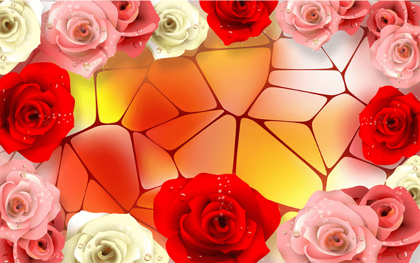 3D Bright Flowers Floor Mural Wallpaper AJ Wallpaper 2