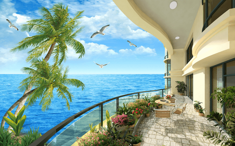 Balcony Beautiful Ocean - AJ Walls - 3