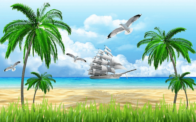 Beach And Sea Galleon - AJ Walls - 3