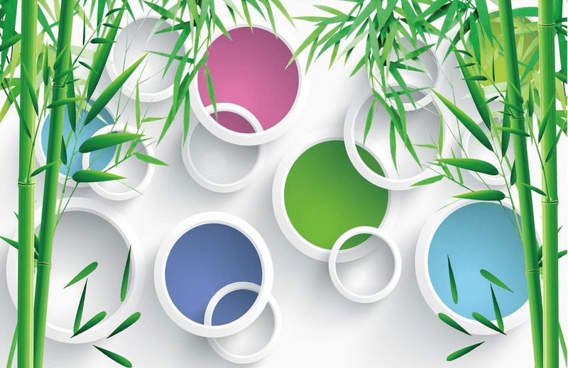 Bamboos And Colorful Circles - AJ Walls - 3