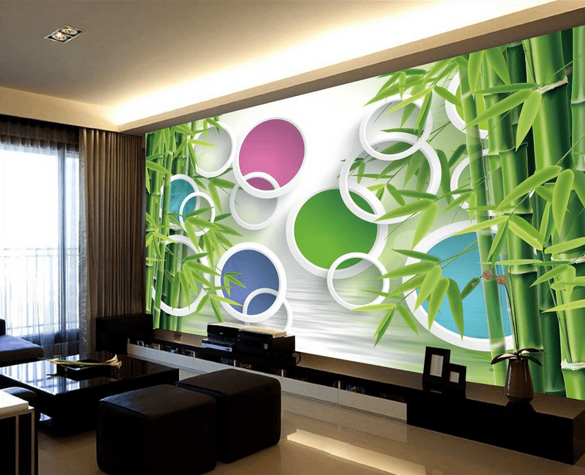 Bamboos And Colored Circles - AJ Walls - 3
