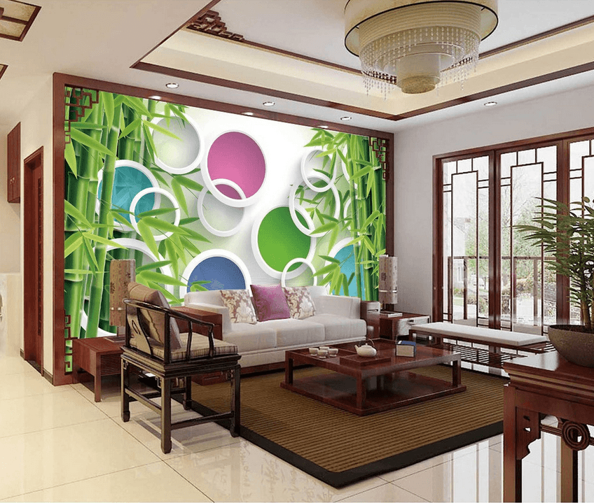 Bamboos And Colored Circles - AJ Walls - 2