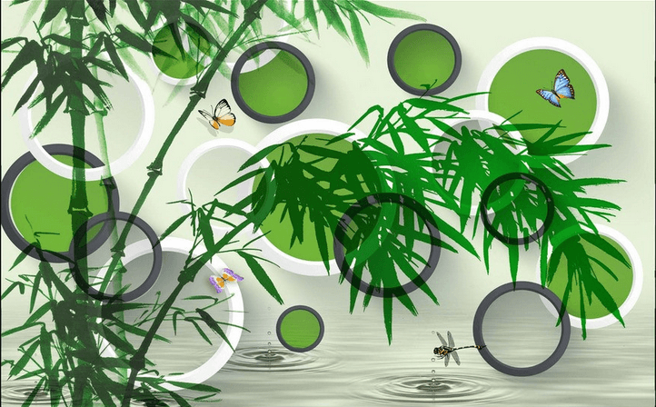 Bamboos And Insects Wallpaper AJ Wallpaper