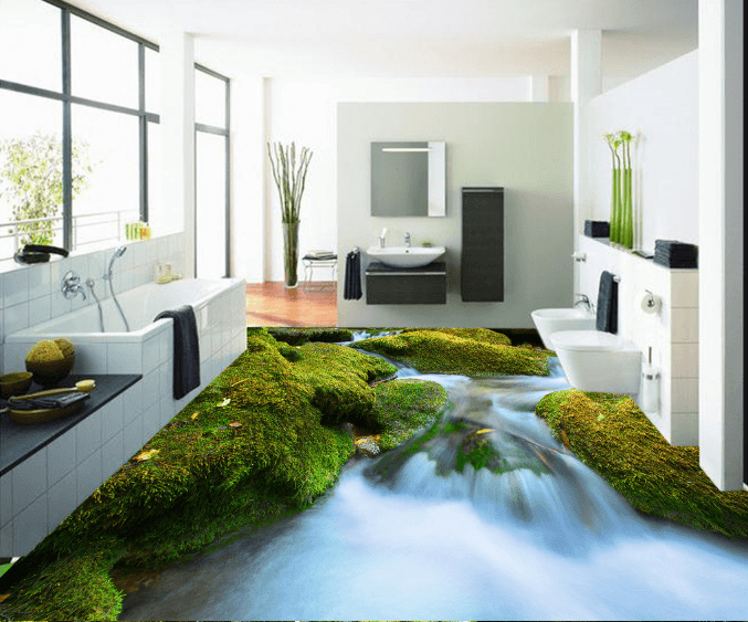 3D Rapids 151 Floor Mural Wallpaper AJ Wallpaper 2