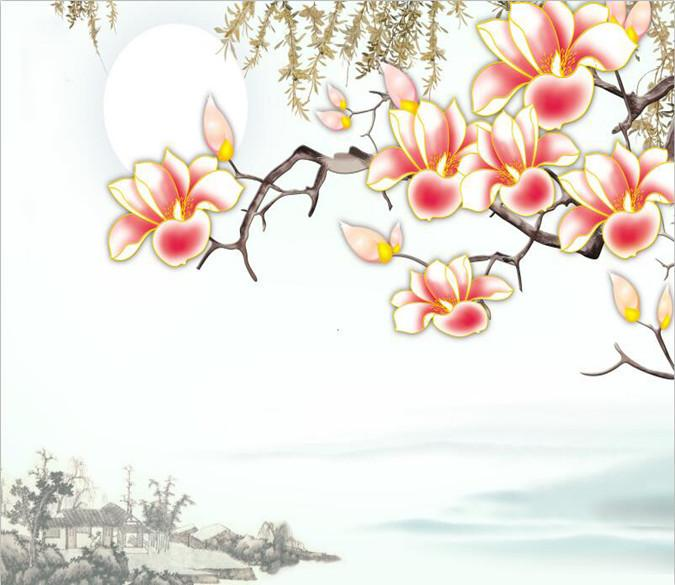Red Flower Blossoming On Branch 8 Wallpaper AJ Wallpaper 1