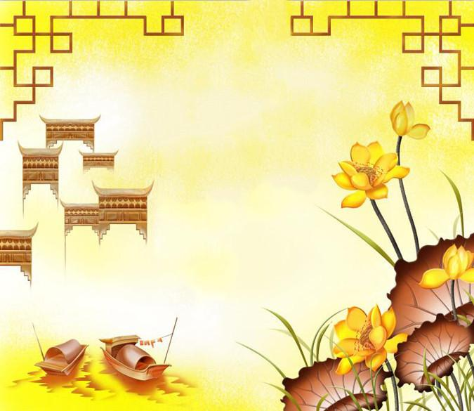 Floating Boats And Golden Flower 44 Wallpaper AJ Wallpaper 1