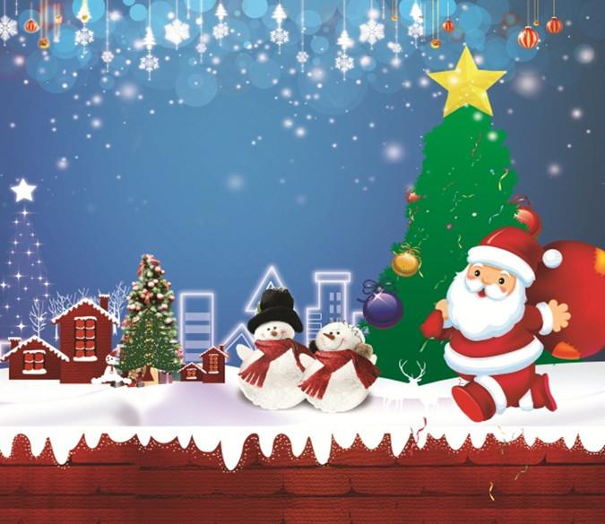 3D Father Christmas And Lovely Snowman 55 Wallpaper AJ Wallpaper