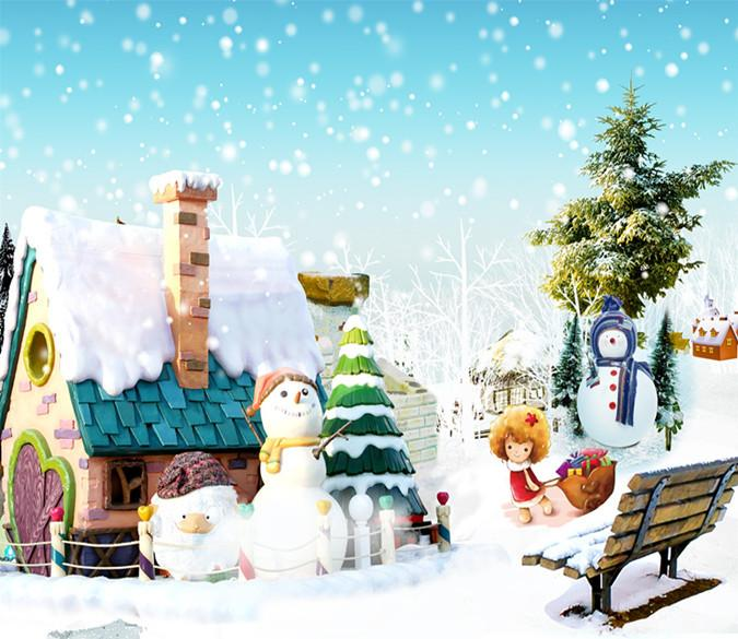 3D Christmas Snowman 112 Wallpaper AJ Wallpaper