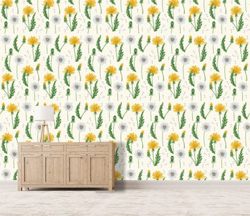 3D Yellow Flower Pattern 616