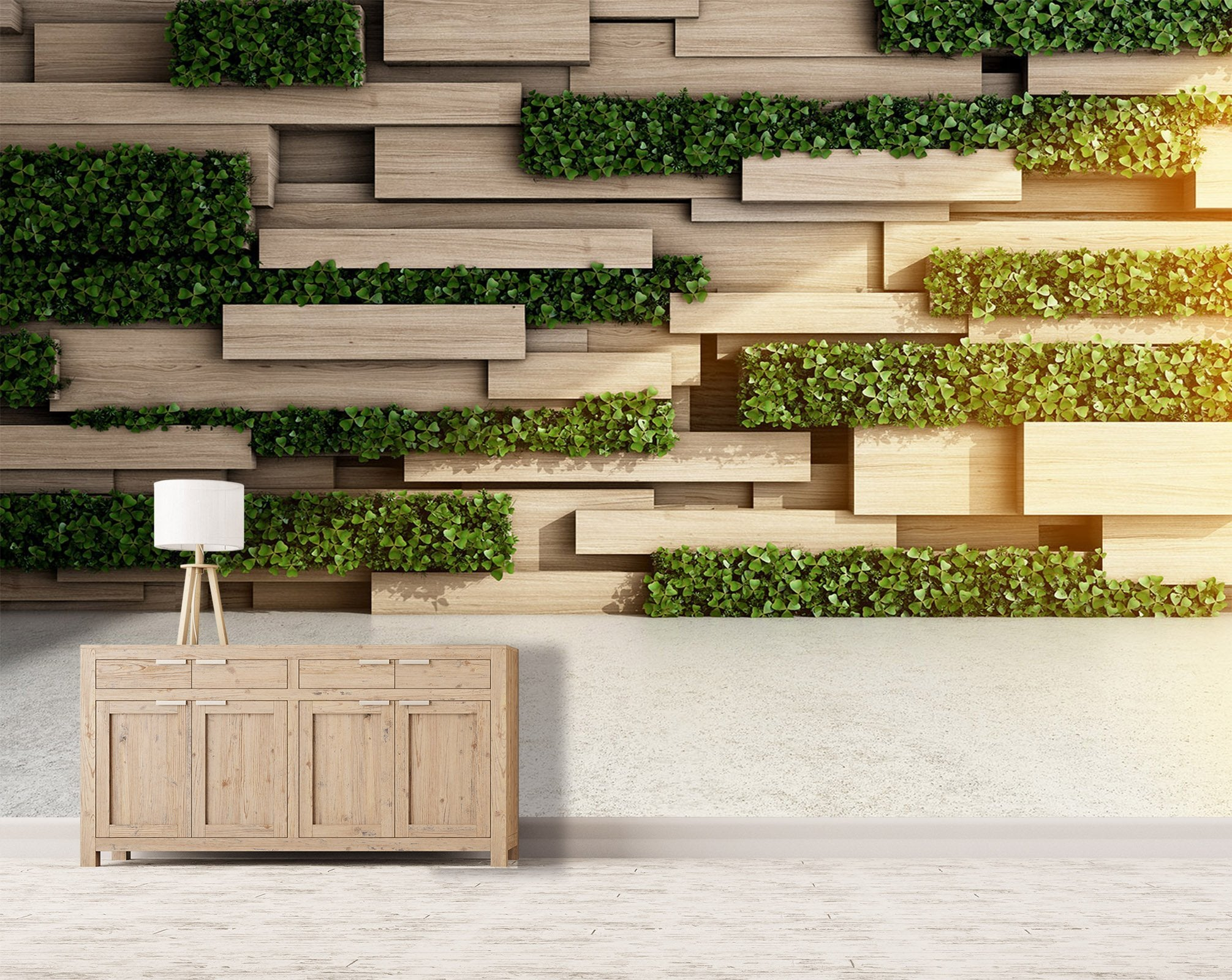 3D Cross Board Parthenocissus 31 Wallpaper AJ Wallpaper