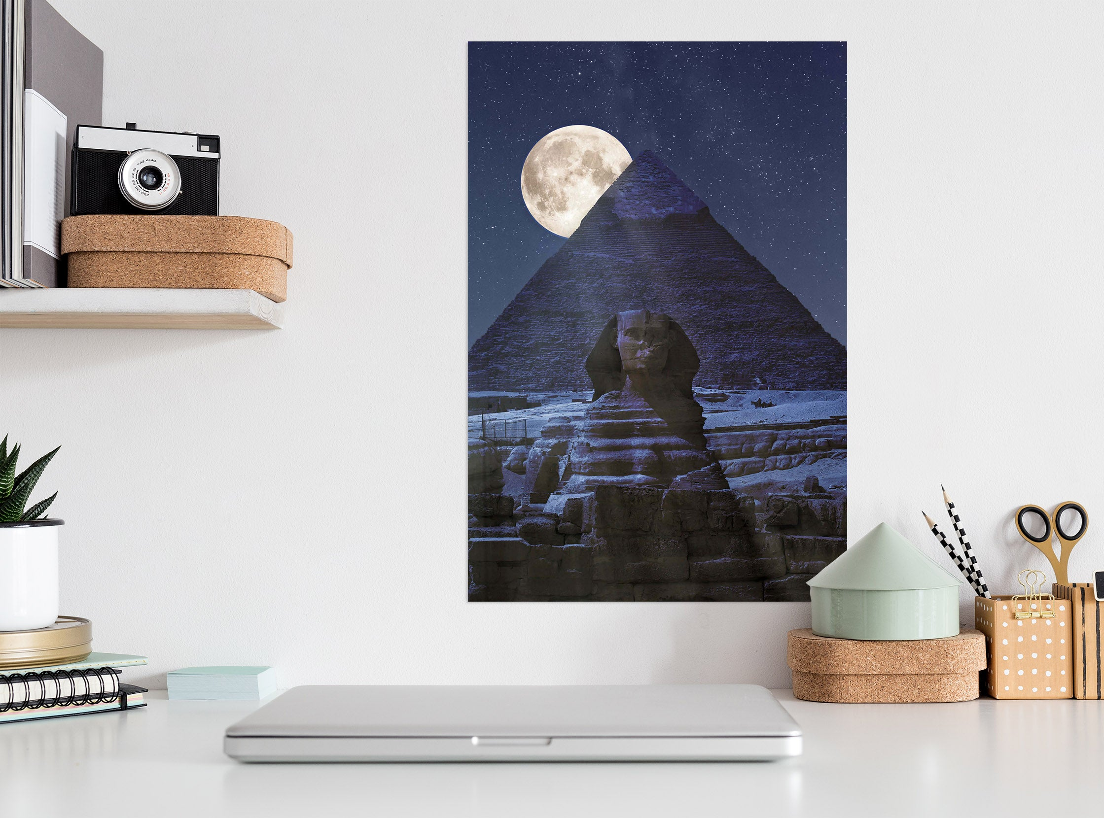 3D Valley Moon 235 Marco Carmassi Wall Sticker