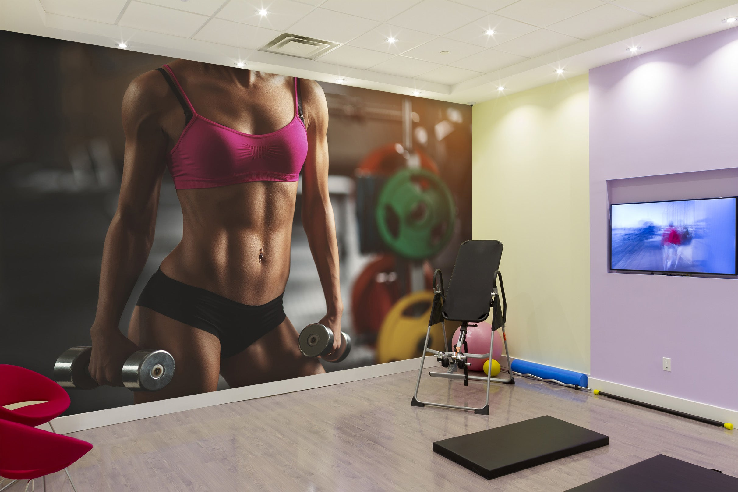 3D Girl Abs 223 Wall Murals
