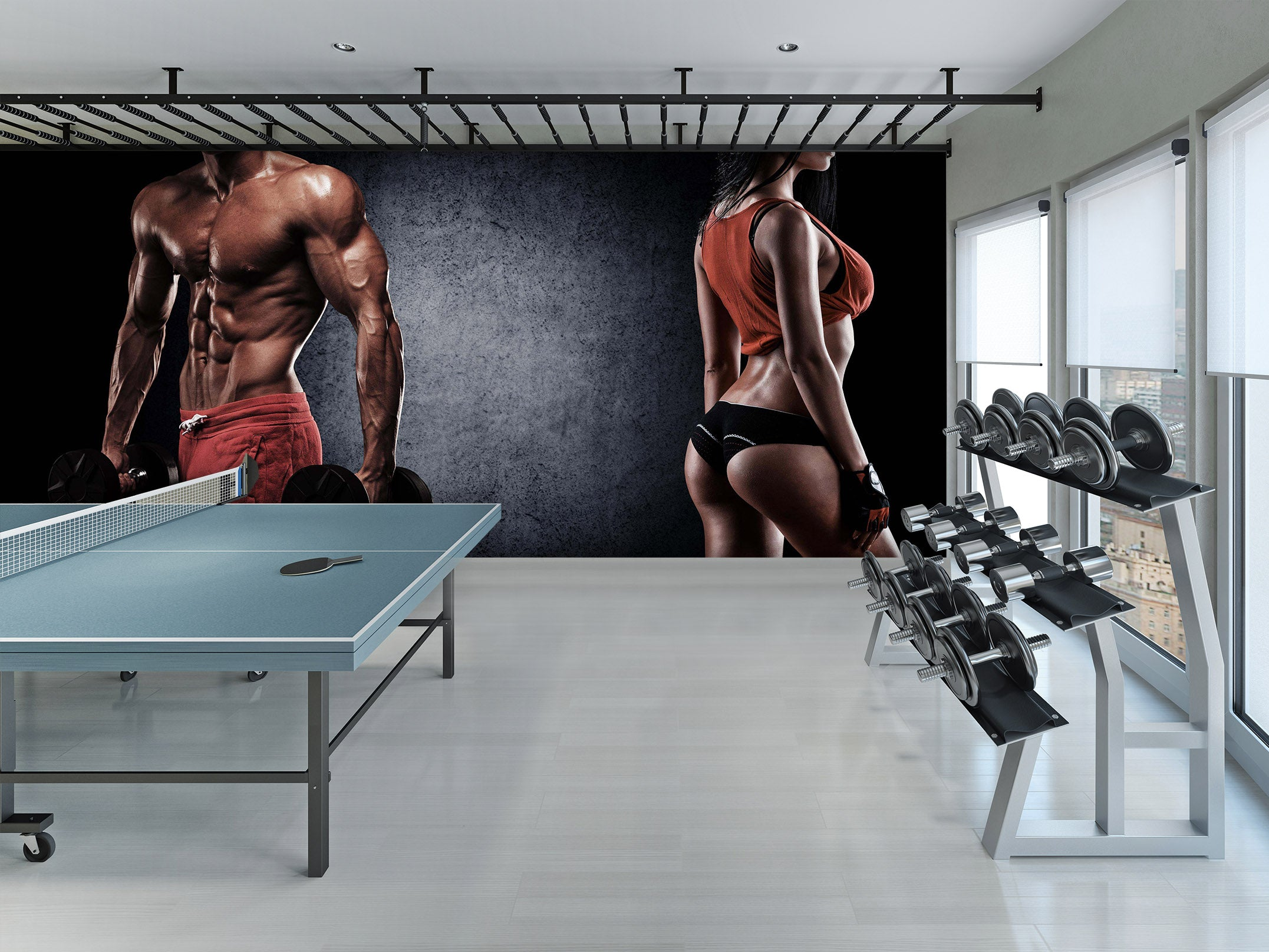 3D Perfect Body 267 Wall Murals