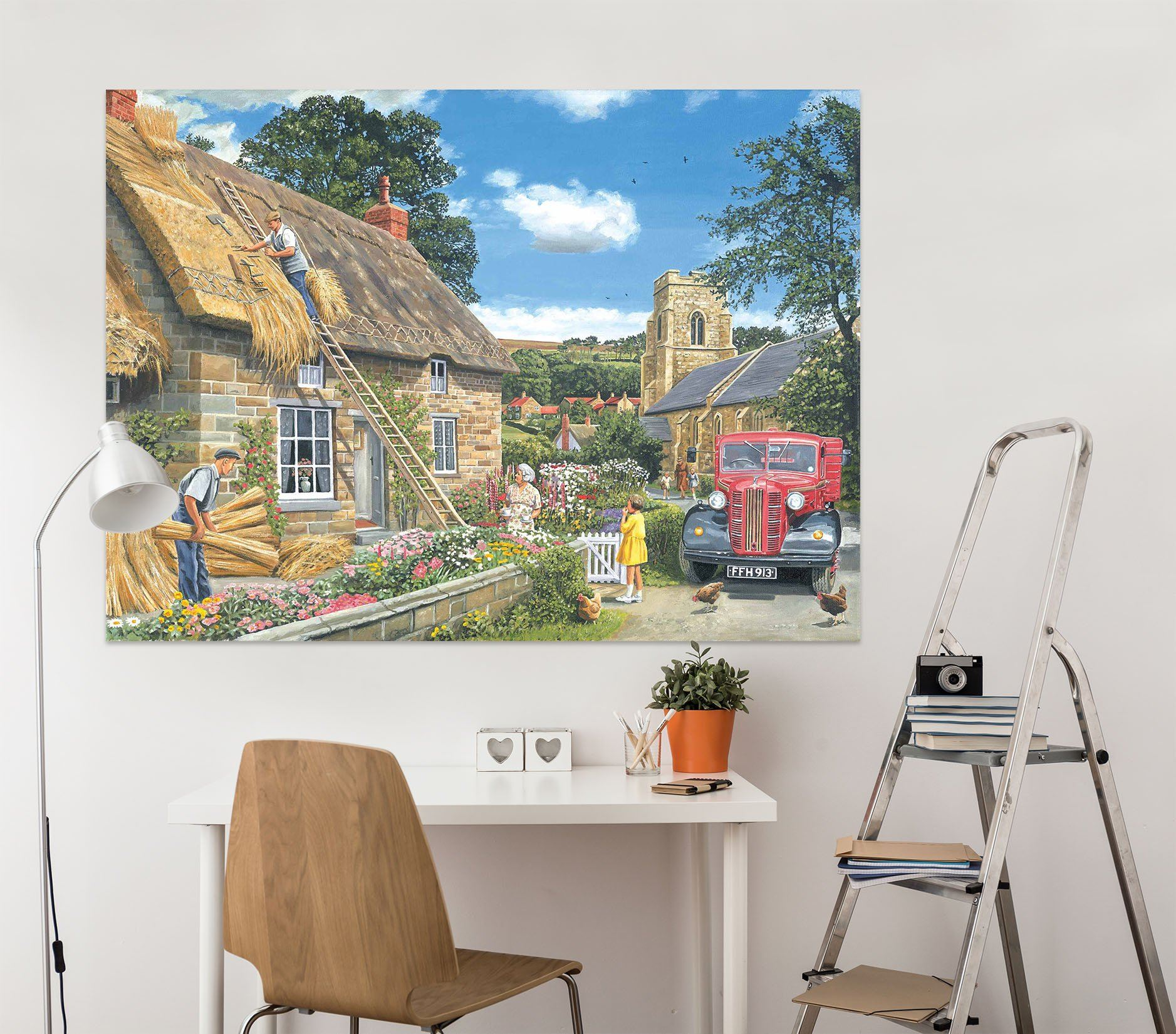 3D A New Thatch 011 Trevor Mitchell Wall Sticker Wallpaper AJ Wallpaper 2