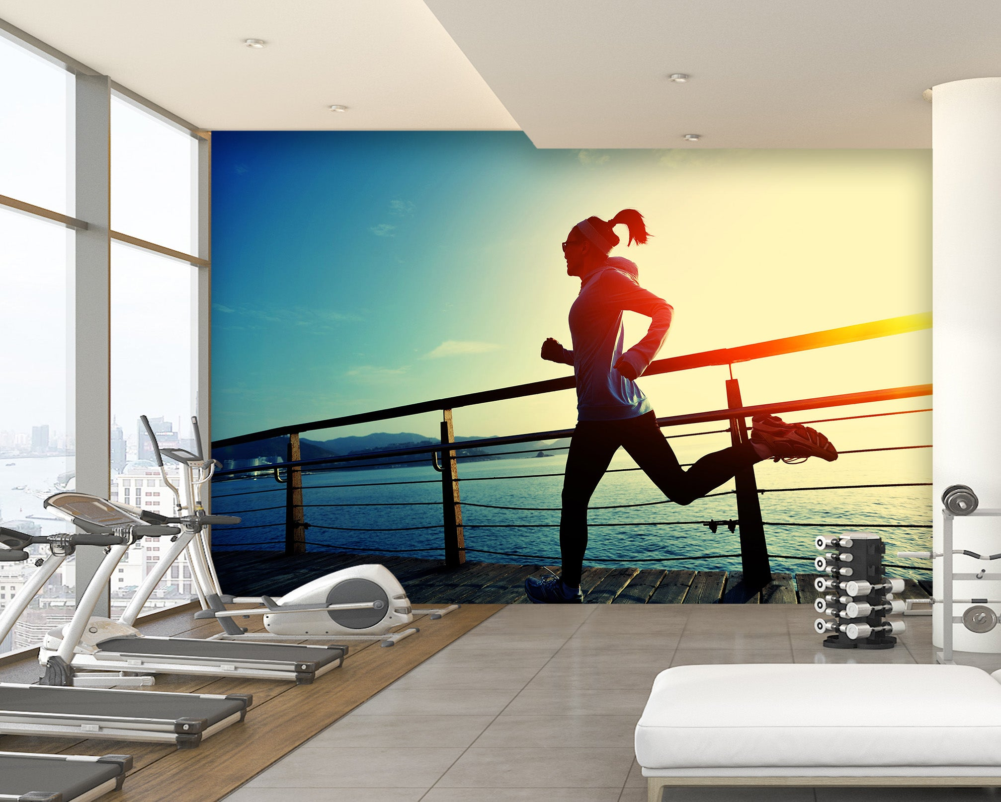 3D Morning Run 254 Wall Murals