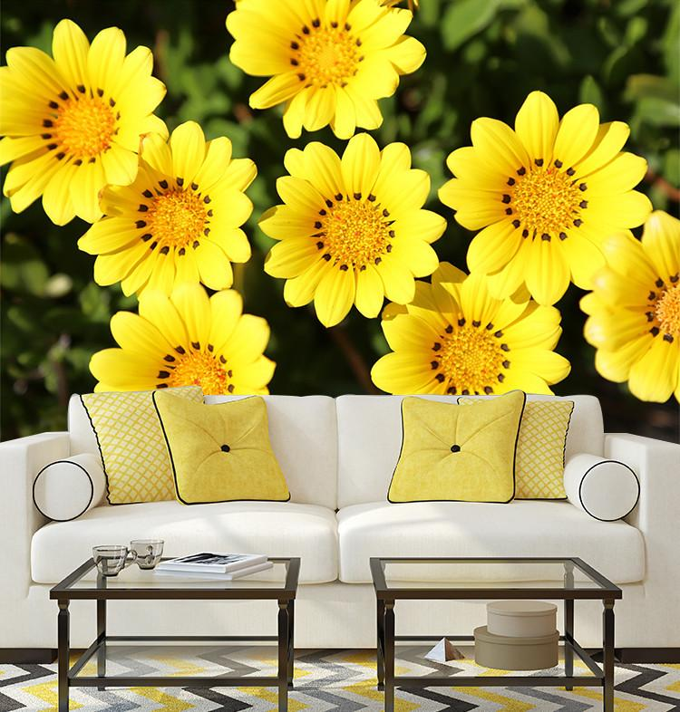 3D Beauty Yellow Sunflower 424 Wallpaper AJ Wallpaper