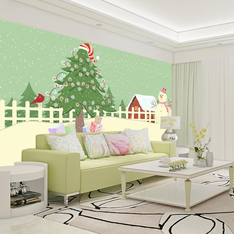 3D Beautiful Christmas Tree And Snowman