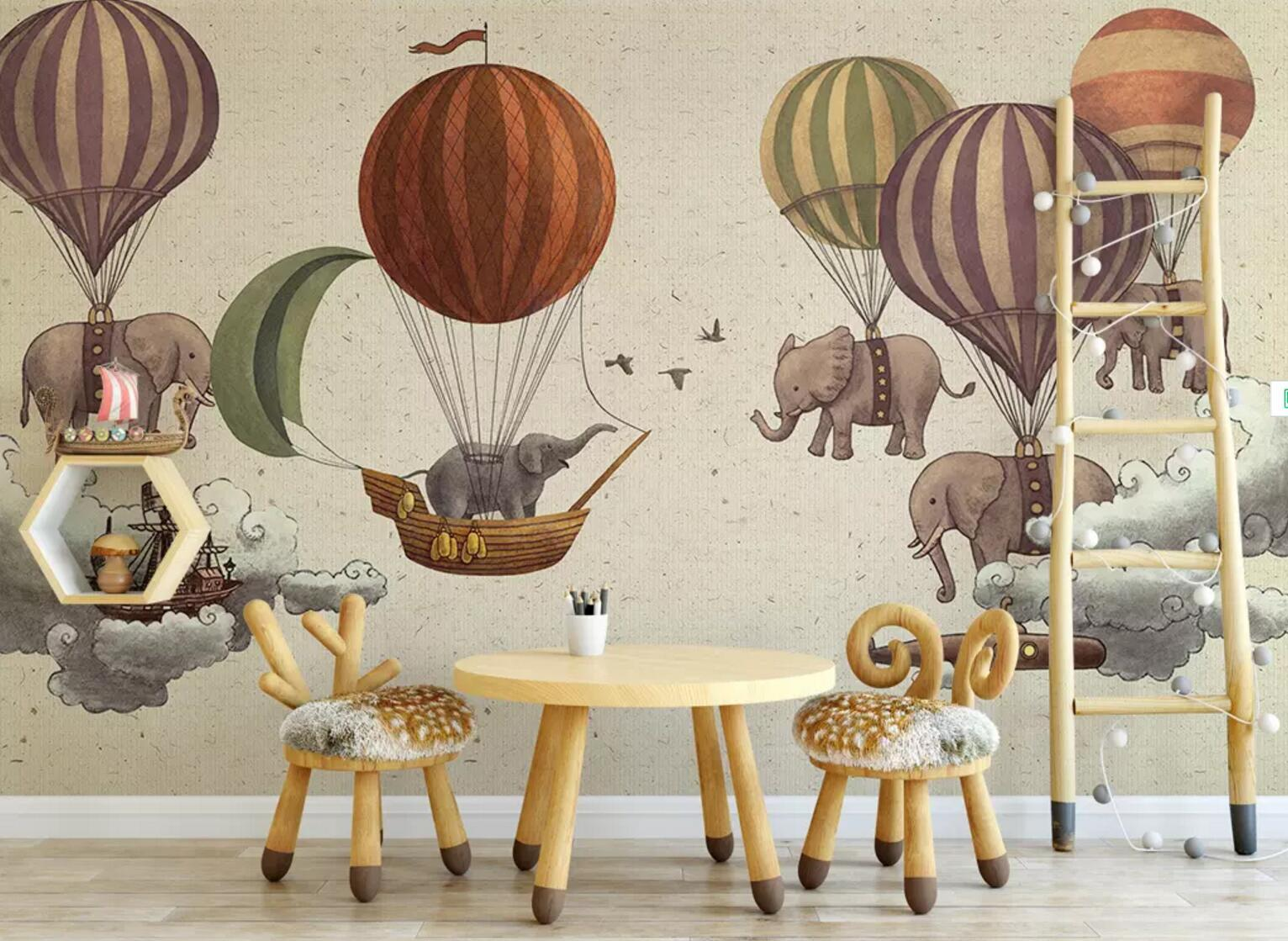 3D Elephant Balloon 168 Wallpaper AJ Wallpaper