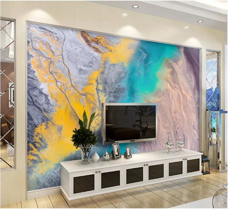 3D Color Graffiti 2077 Wall Murals