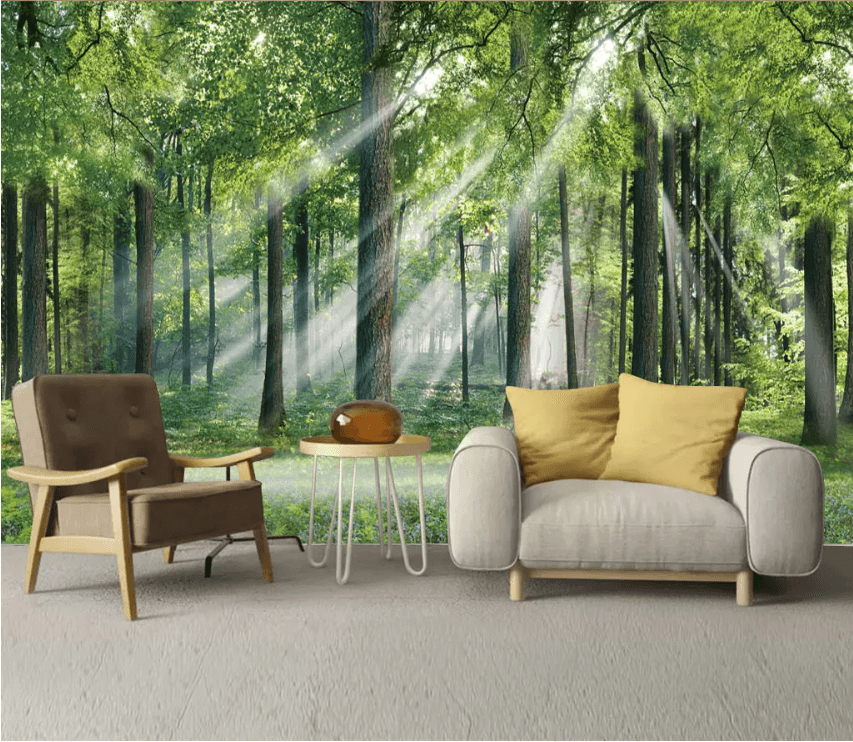 3D Sunshine Forest 1594 Wallpaper AJ Wallpaper 2