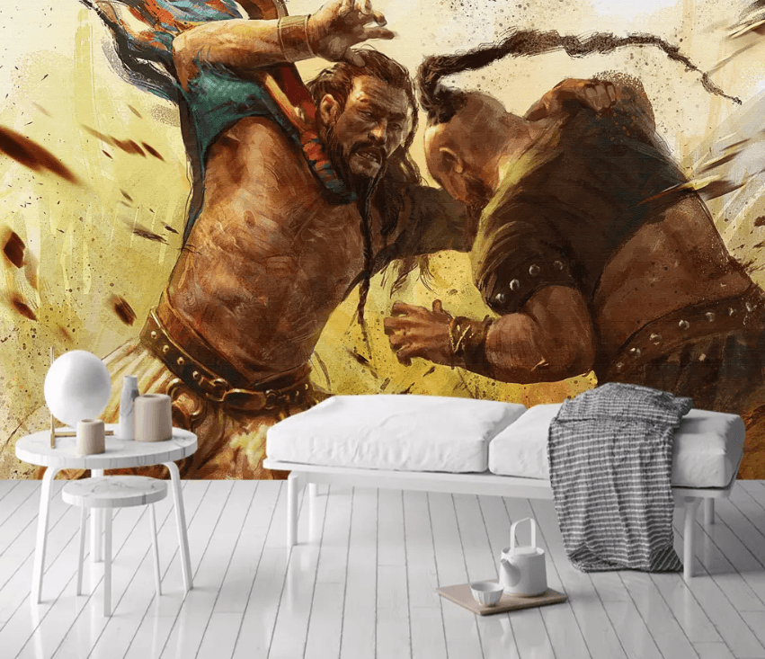 3D Mongolian Fighting 1587 Wallpaper AJ Wallpaper 2