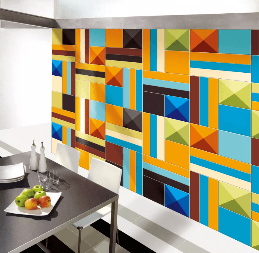 3D Colored Irregular Squares 1449 Wallpaper AJ Wallpaper 2