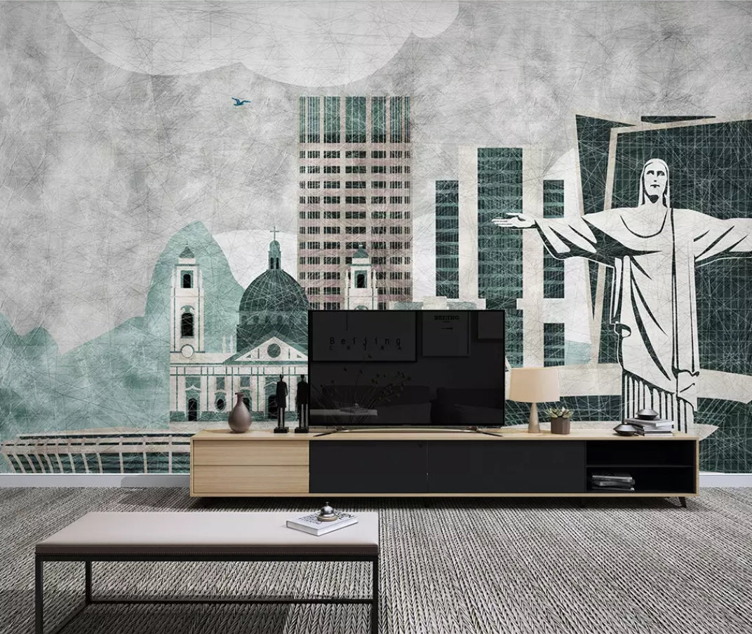 3D Building 1848 Wall Murals