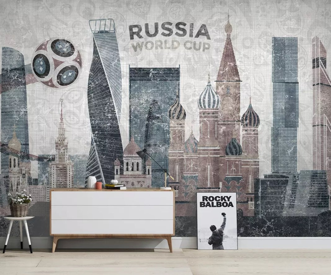 3D High-rise Building 555 Wall Murals