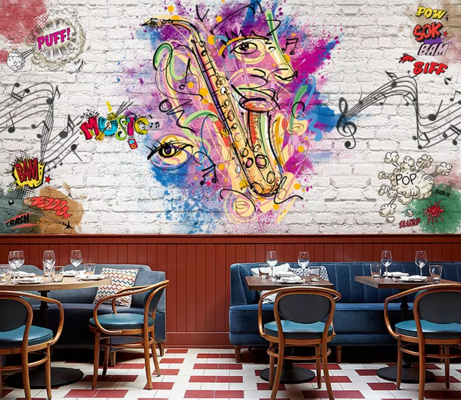 3D Fun Music 1402 Wall Murals