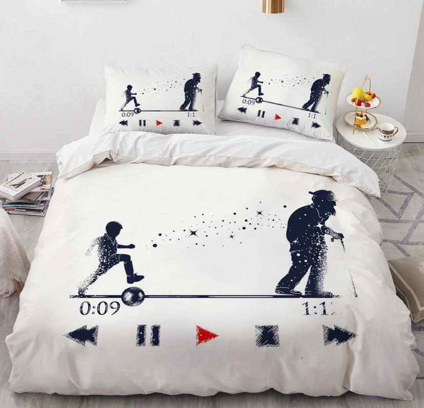 3D Child Old Man 88191 Bed Pillowcases Quilt