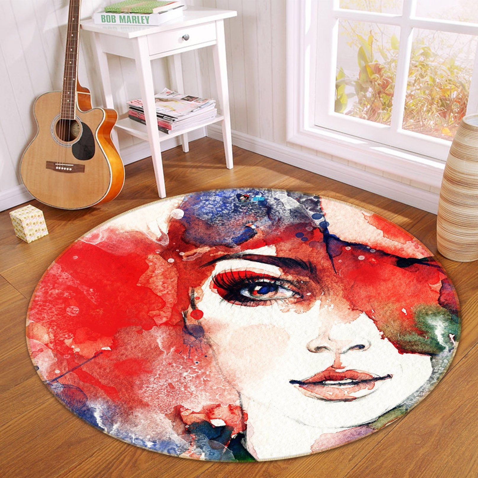 3D Oil Painting Woman 352 Round Non Slip Rug Mat Mat AJ Creativity Home