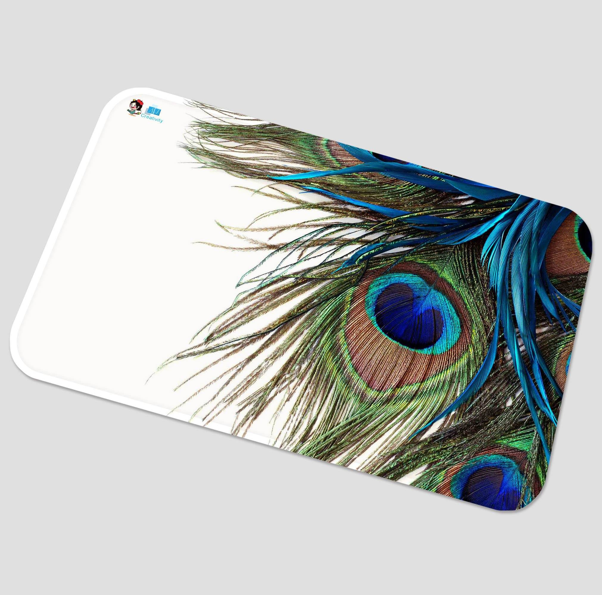 3D Peacock Feathers 32 Non Slip Rug Mat