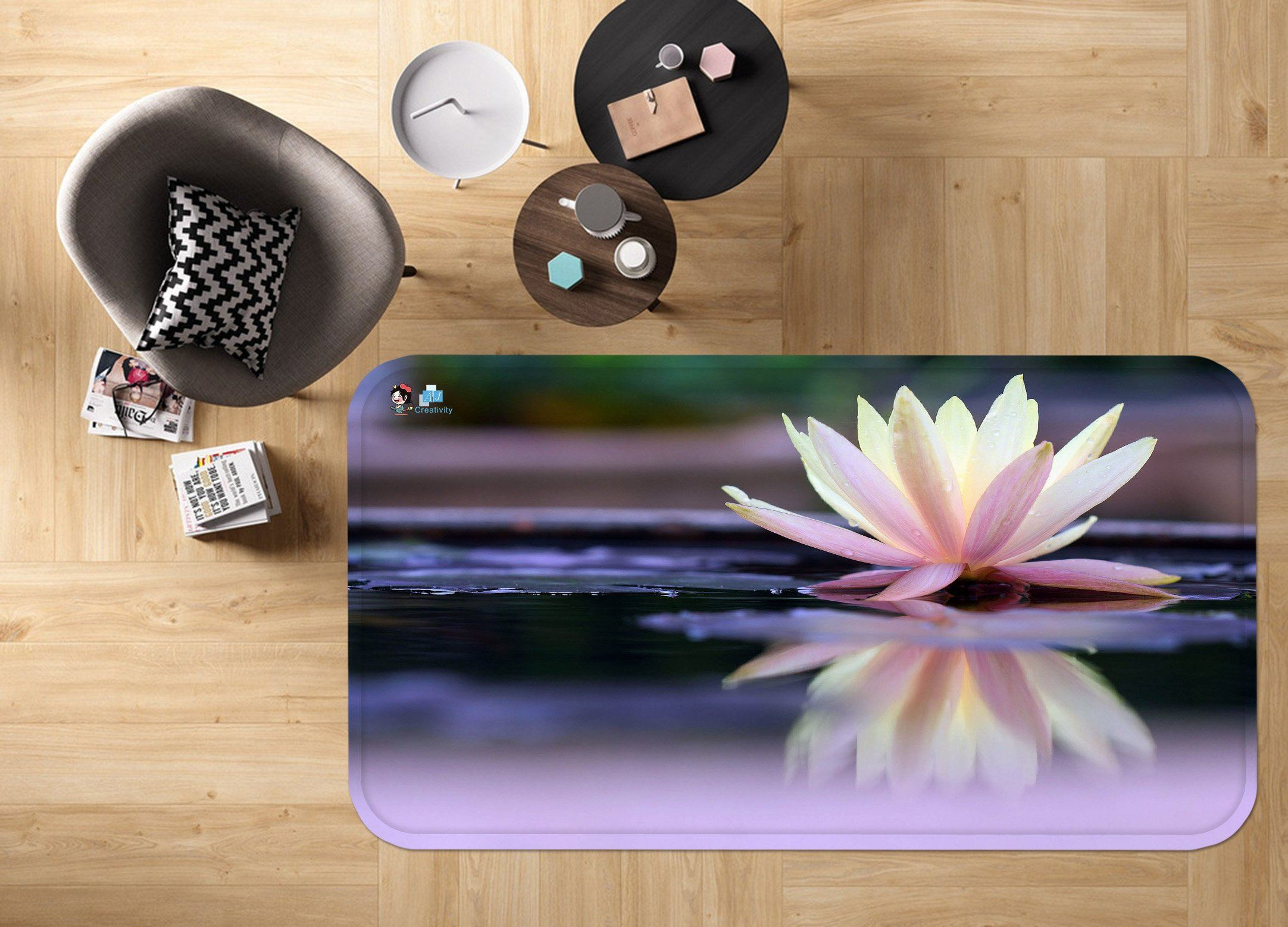 3D Pretty Pure Flower 122 Non Slip Rug Mat Mat AJ Creativity Home