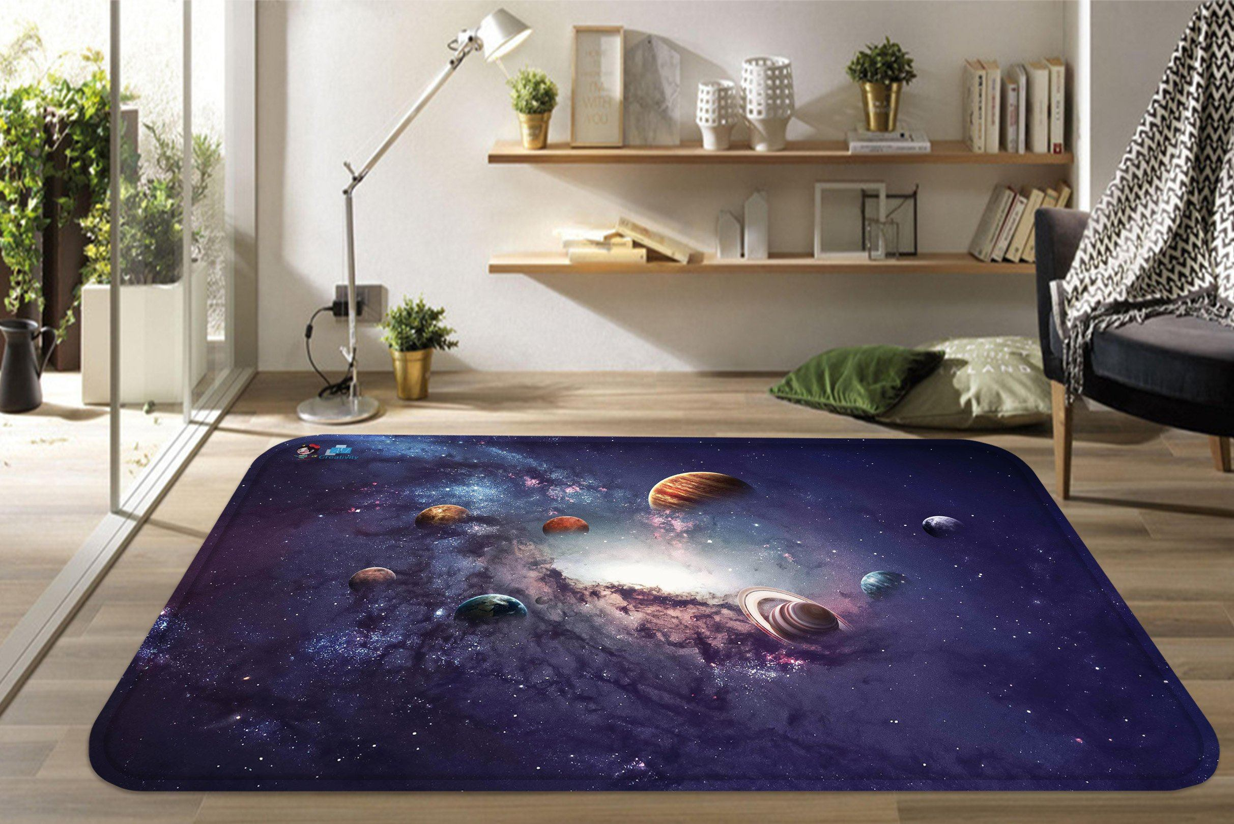 3D Space Planets 87 Non Slip Rug Mat Mat AJ Creativity Home